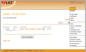 vtiger phplist emaillist sync