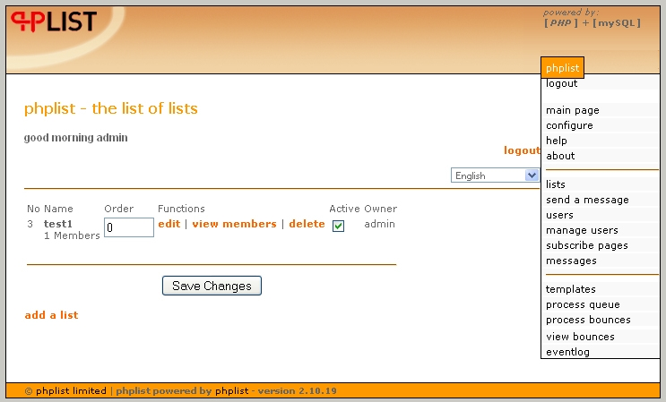 vtiger-phplist-emaillist-sync